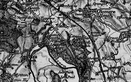 Old map of Albionhayes in 1899