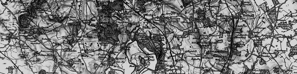 Old map of Leaton in 1899