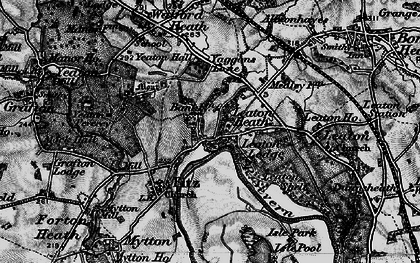 Old map of Leaton Heath in 1899