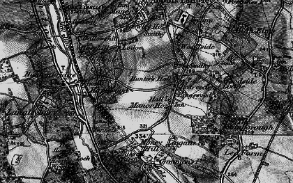 Old map of Leavesden Green in 1896