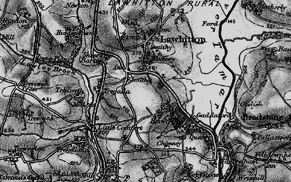 Old map of Leburnick in 1896