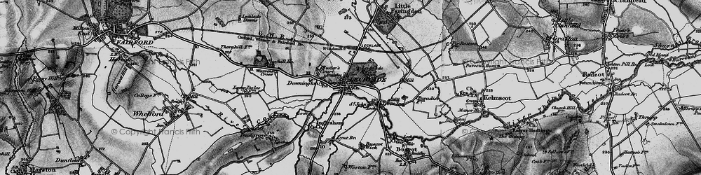 Old map of Lechlade on Thames in 1896
