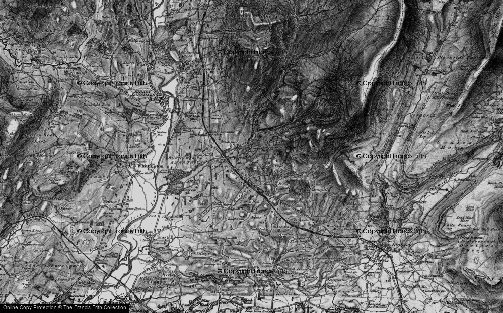 Old Map of Historic Map covering Leck Fell in 1898