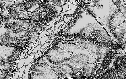 Old map of Woolbury in 1895