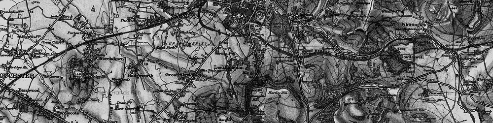 Old map of Leckhampton Hill in 1896