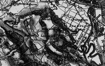 Old map of Leckwith Woods in 1898
