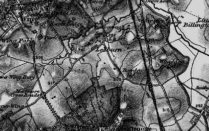 Old map of Ledburn in 1896