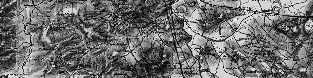 Old map of Ledburn in 1896