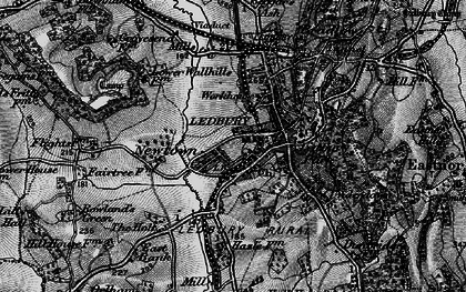 Old map of Ledbury in 1898