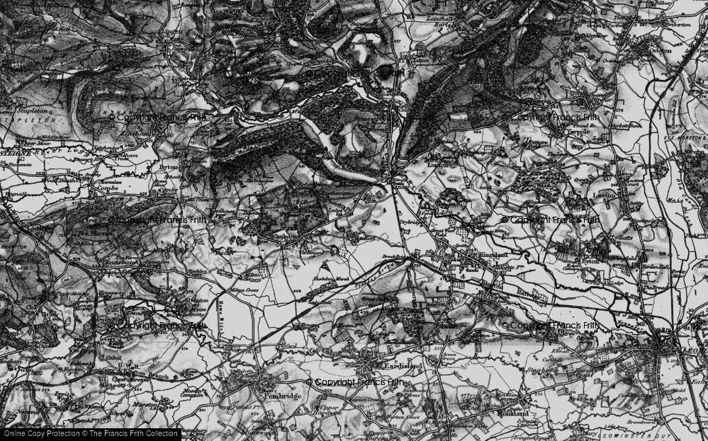Old Map of Ledicot, 1899 in 1899
