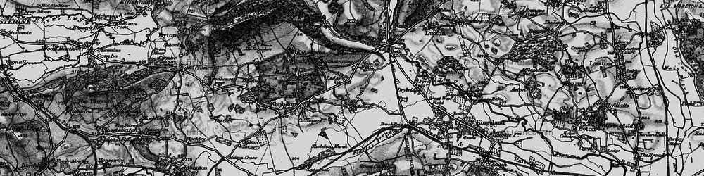 Old map of Ledicot in 1899