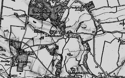 Old map of Ledsham in 1896