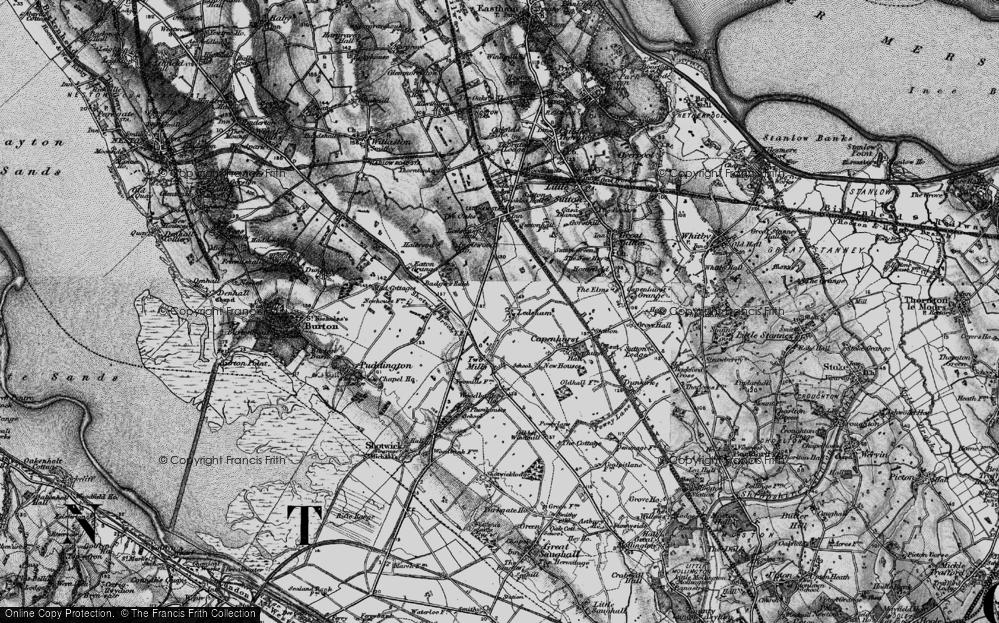 Old Map of Ledsham, 1896 in 1896