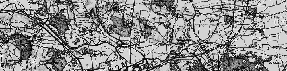 Old map of Ledston in 1896