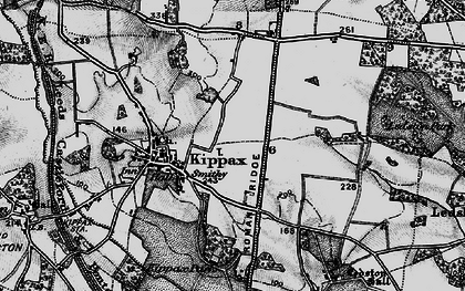 Old map of Ledston Luck in 1896