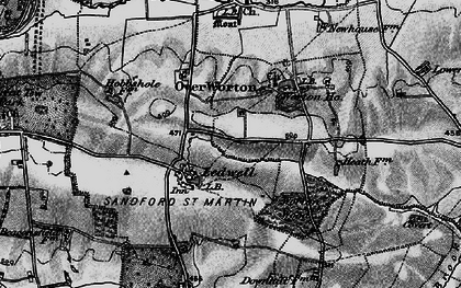 Old map of Ledwell in 1896