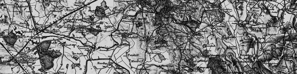 Old map of Lee in 1897