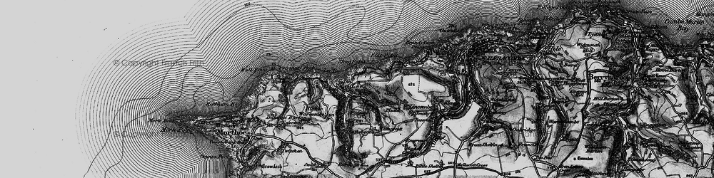 Old map of Windcutter Hill in 1897