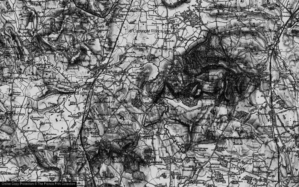 Old Map of Lee Brockhurst, 1897 in 1897