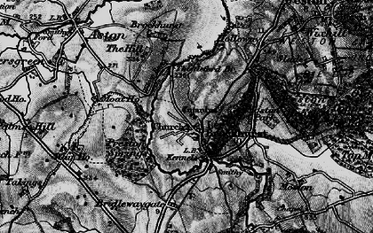 Old map of Lee Brockhurst in 1897