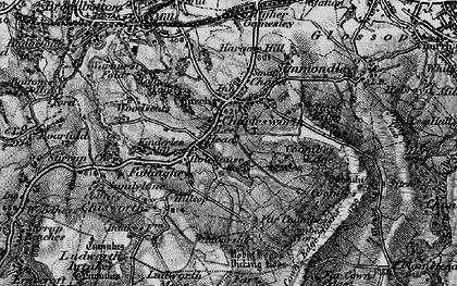 Old map of Lee Head in 1896
