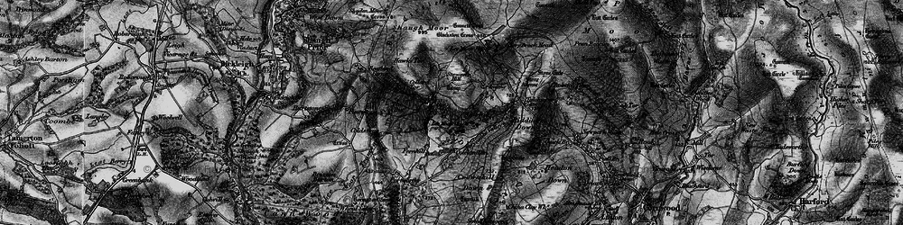 Old map of Whitehill Tor in 1898