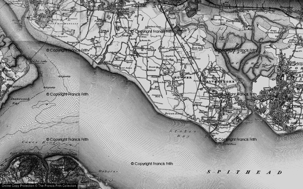 Old Map of Lee-on-the-Solent, 1895 in 1895
