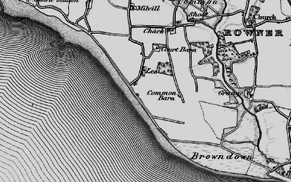 Old map of Lee-on-the-Solent in 1895