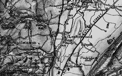 Old map of Leebotwood in 1899