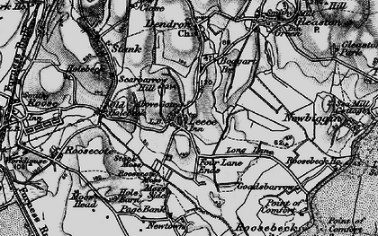 Old map of Leece in 1897
