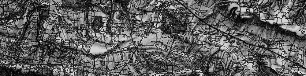 Old map of Leeds in 1895