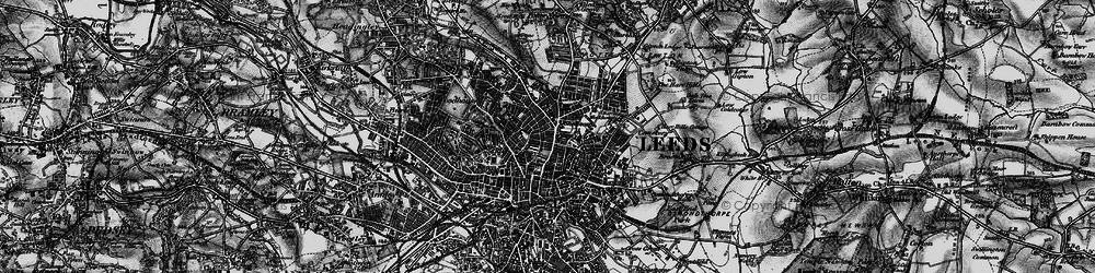 Old map of Leeds in 1898