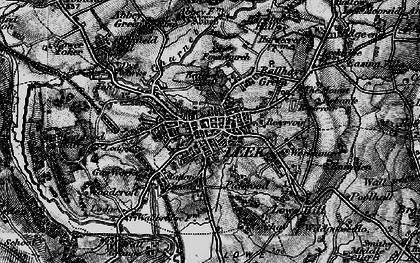 Old map of Leek in 1897