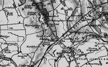 Old map of Leases Grange in 1897