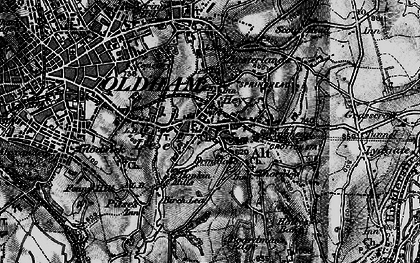 Old map of Lees in 1896