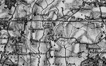 Old map of Lees in 1897