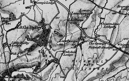 Old map of Leesthorpe Hill in 1899