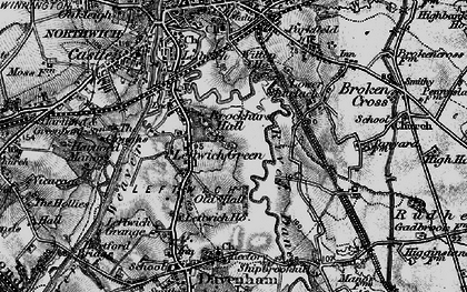 Old map of Leftwich in 1896