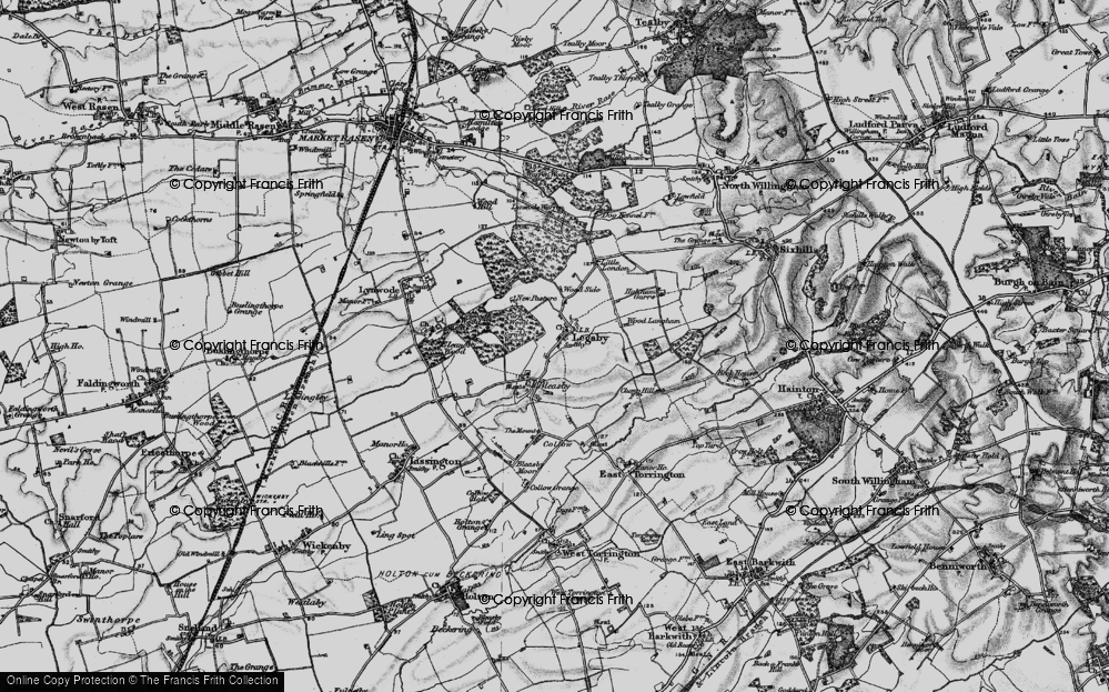 Old Map of Historic Map covering Legsby Wood in 1899