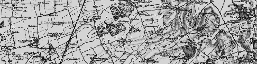 Old map of Wood Langham in 1899