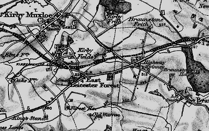 Old map of Leicester Forest East Service Area in 1899