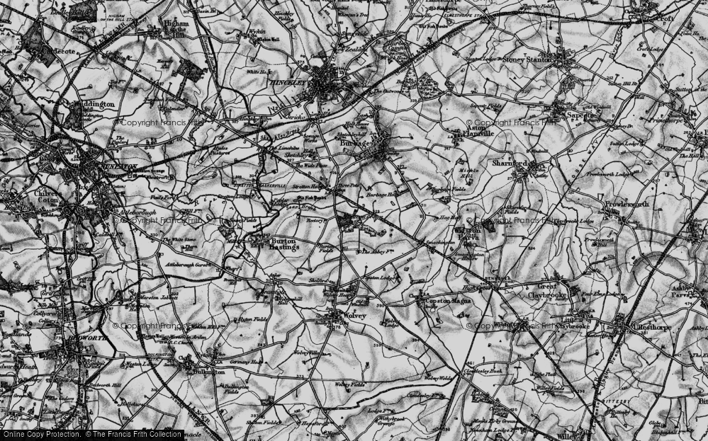 Old Map of Leicester Grange, 1899 in 1899