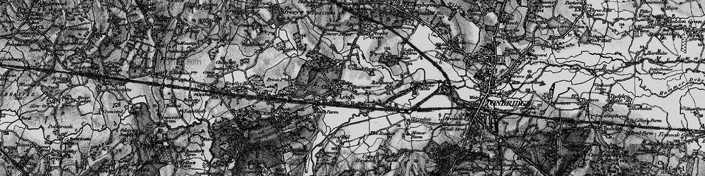 Old map of Leigh in 1895