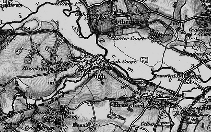 Old map of Tithe Barn in 1898