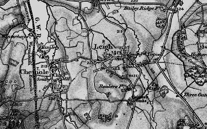 Old map of Leigh in 1898