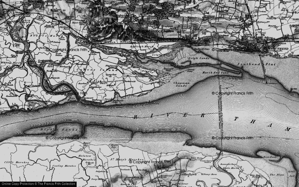 Old Map of Leigh Beck, 1896 in 1896