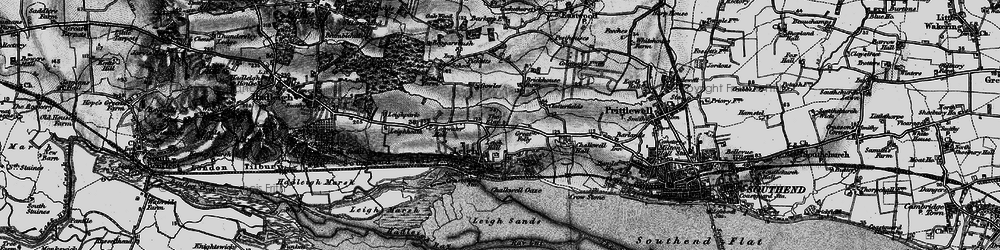 Old map of Leigh-on-Sea in 1896