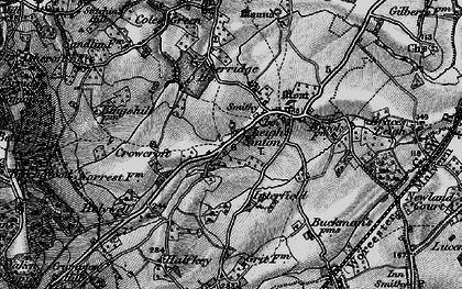 Old map of Leigh Sinton in 1898
