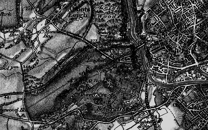 Old map of Aston Court Estate in 1898