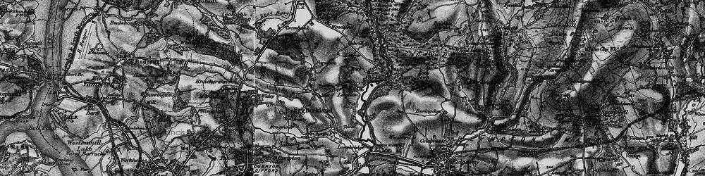 Old map of Plym Bridge in 1898